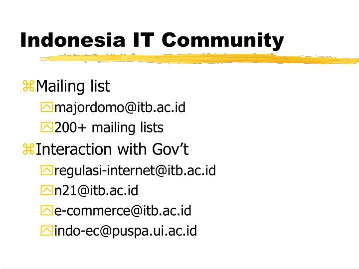 Indonesia IT Community