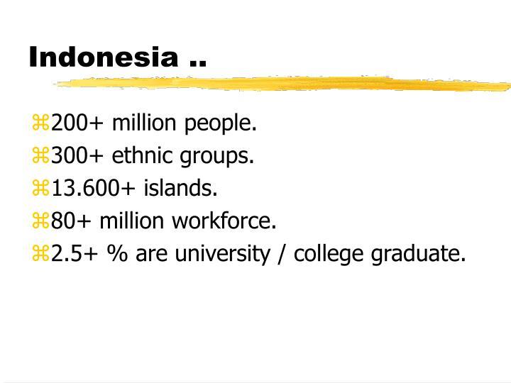 Indonesia ..