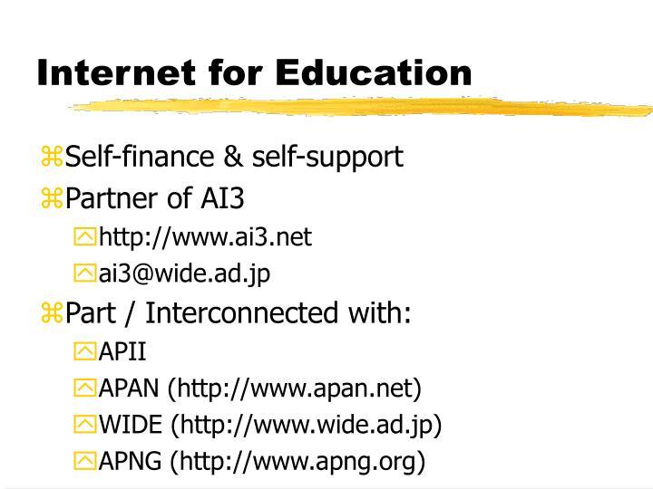 Internet for Education