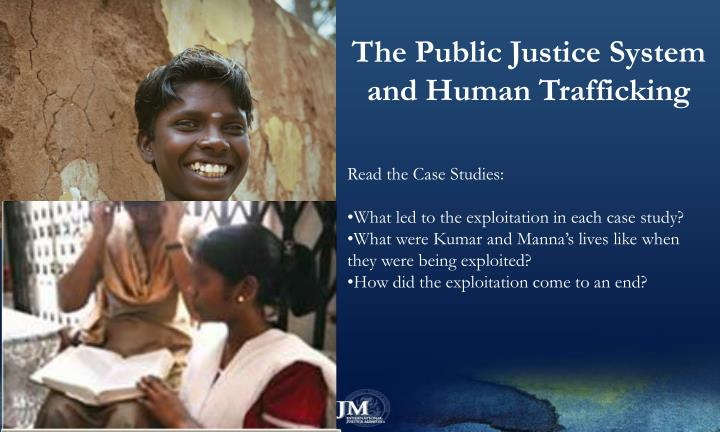 The Public Justice System and Human Trafficking