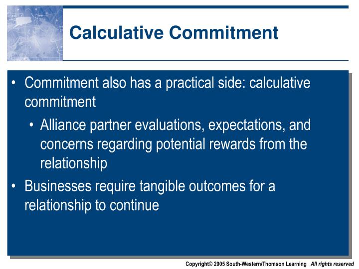Calculative Commitment