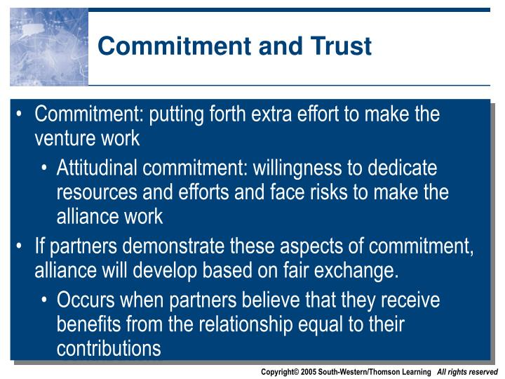 Commitment and Trust