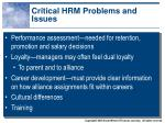 critical hrm problems and issues1
