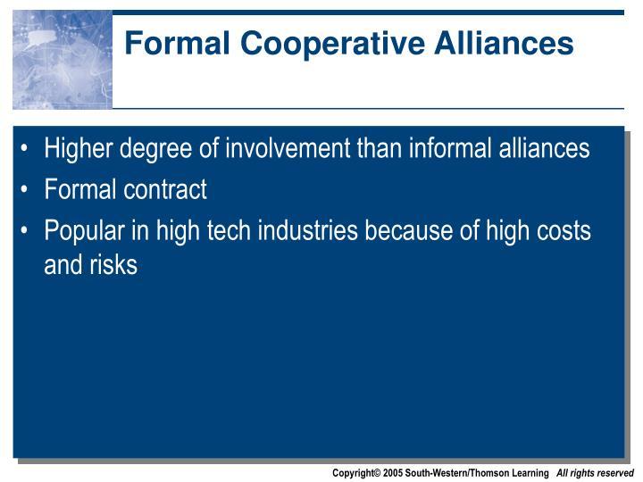 Formal Cooperative Alliances