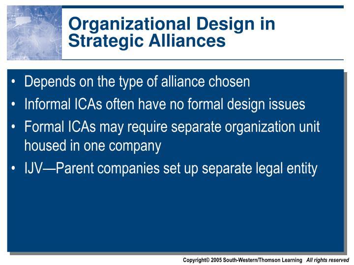 Organizational Design in Strategic Alliances