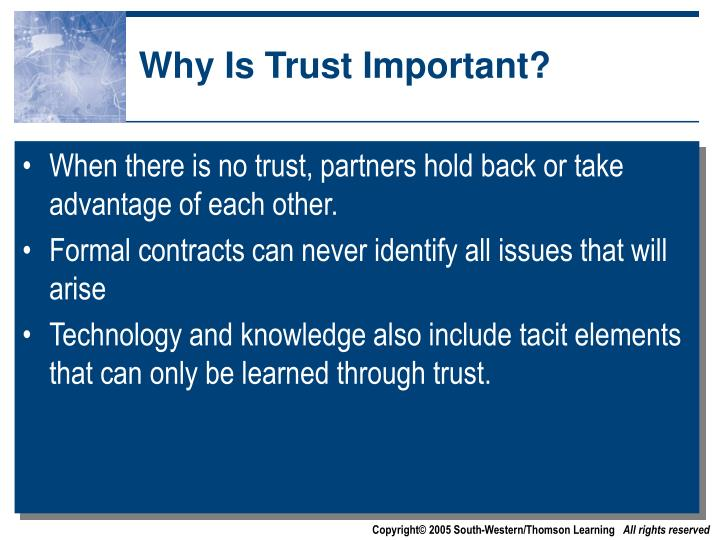Why Is Trust Important?