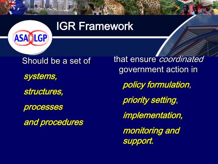 IGR Framework