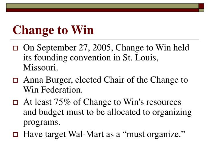Change to Win