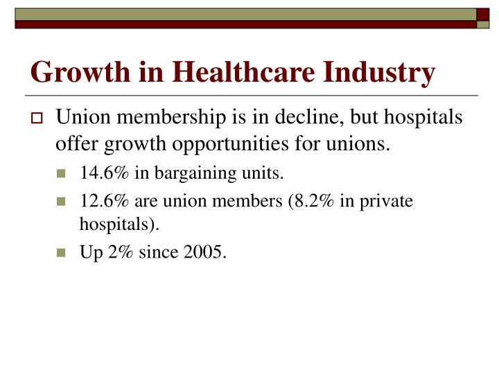 Growth in Healthcare Industry