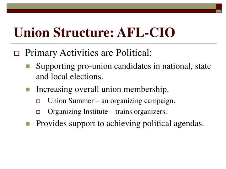 Union Structure: AFL-CIO
