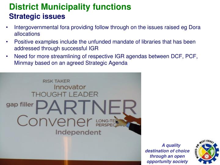 District Municipality functions