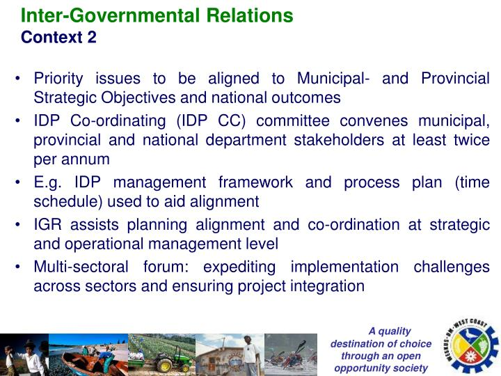 Inter-Governmental Relations