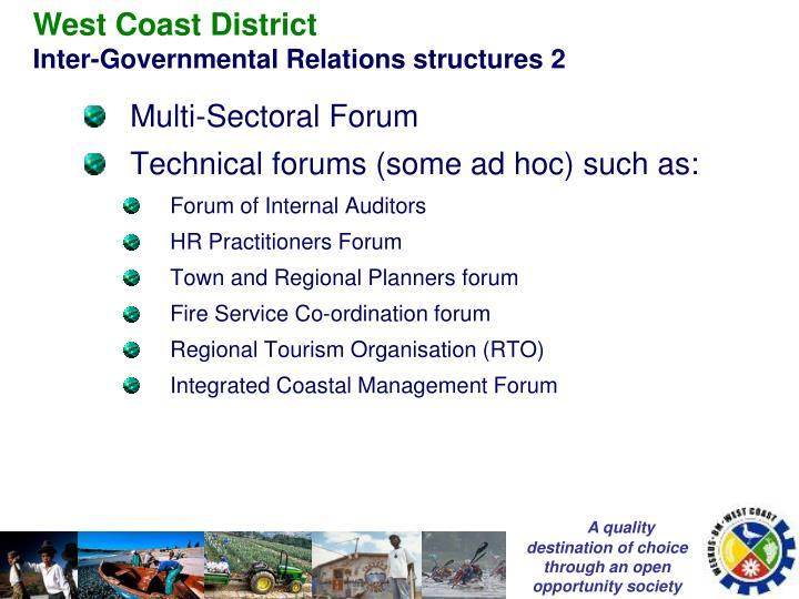 West Coast District