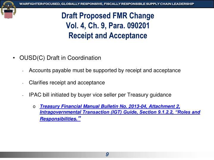 Draft Proposed FMR Change