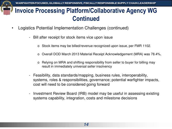 Invoice Processing Platform/Collaborative Agency WG