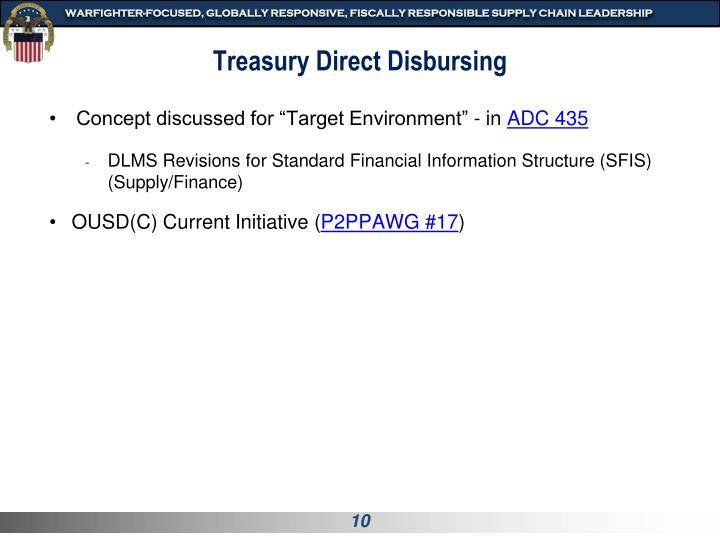 Treasury Direct Disbursing