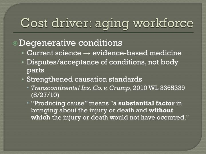 Cost driver: aging workforce