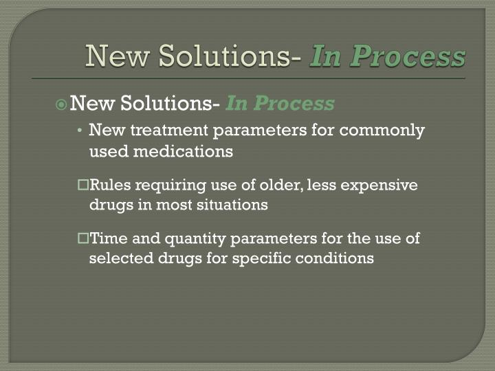 New Solutions-