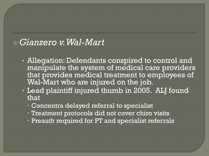 Gianzero v. Wal-Mart