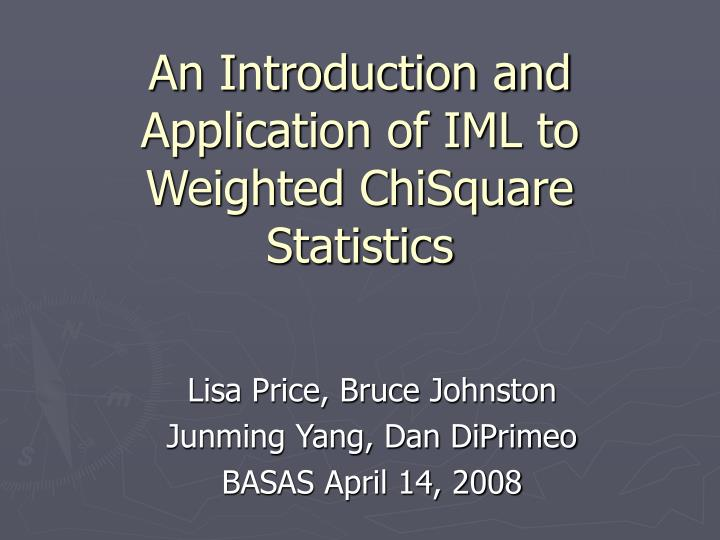 An Introduction and Application of IML to