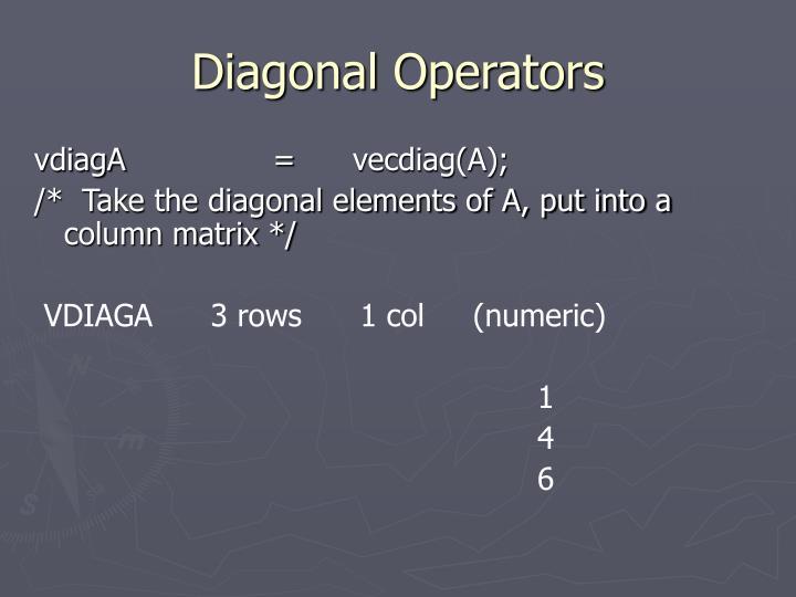 Diagonal Operators