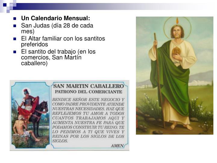 Un Calendario Mensual: