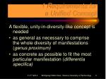 1 requirements for a unified concept