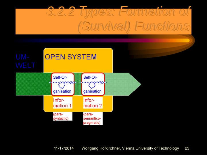 3.2.2 Types: Formation of (Survival) Functions