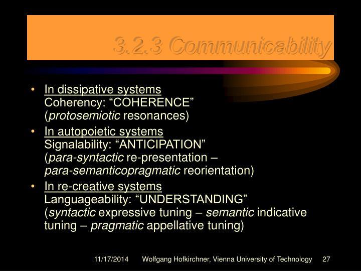3.2.3 Communicability