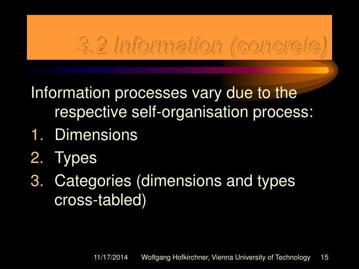 3.2 Information (concrete)