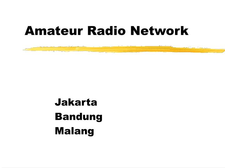 Amateur Radio Network