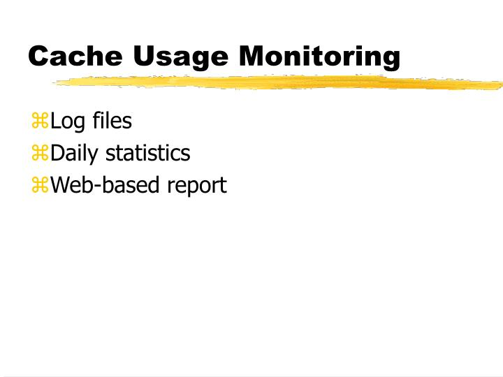 Cache Usage Monitoring