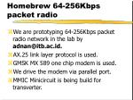 homebrew 64 256kbps packet radio
