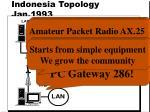indonesia topology jan 1993