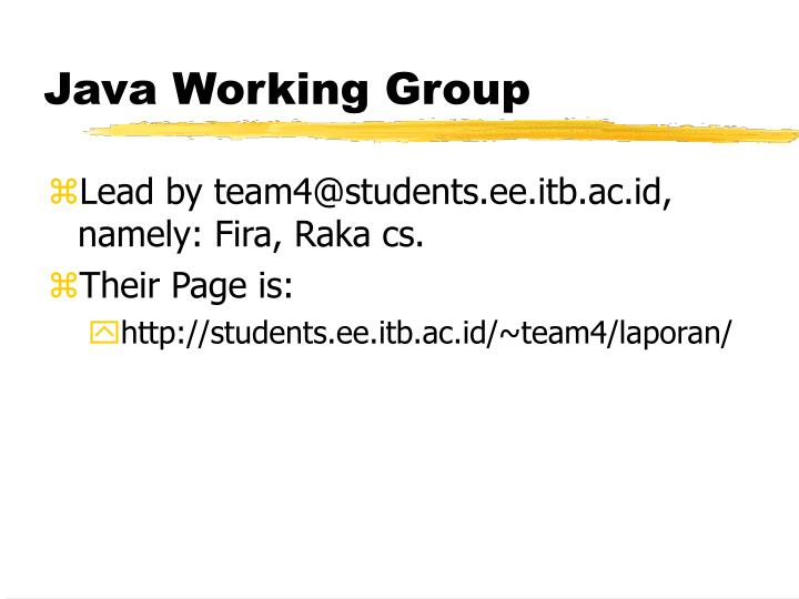 Java Working Group