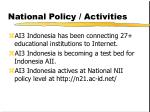national policy activities
