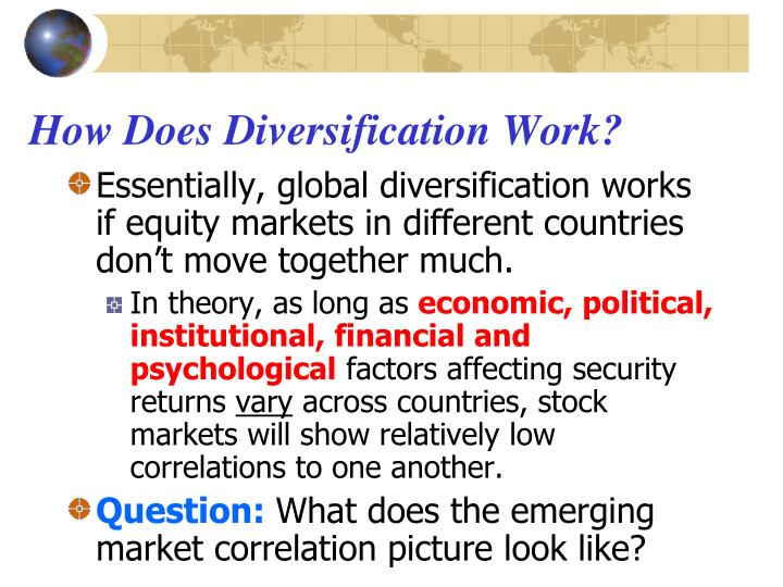 How Does Diversification Work?