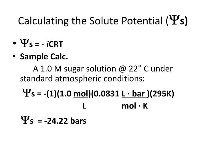Calculating the Solute Potential (