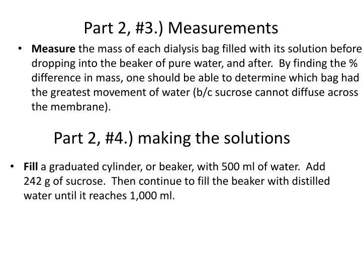 Part 2, #3.) Measurements
