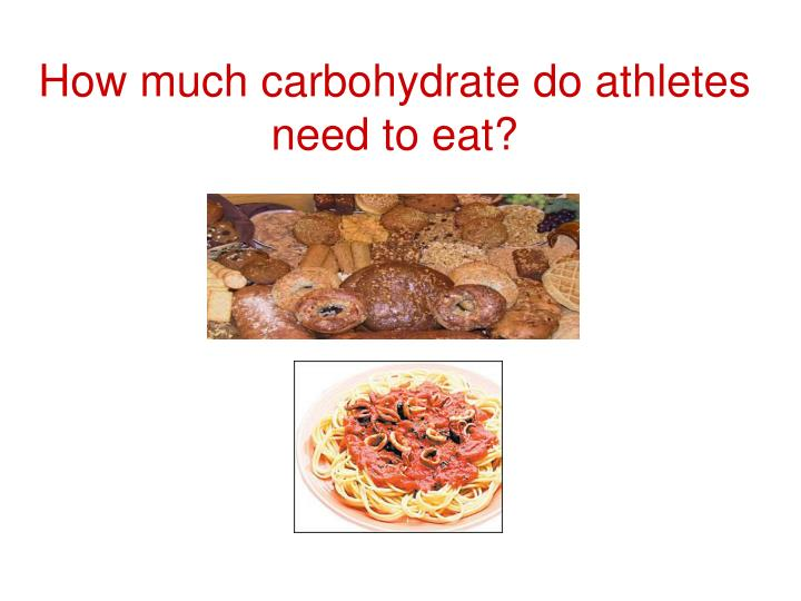 How much carbohydrate do athletes need to eat?