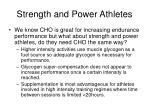 strength and power athletes