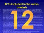 rcts included in the meta analysis