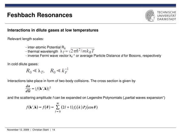 Feshbach Resonances