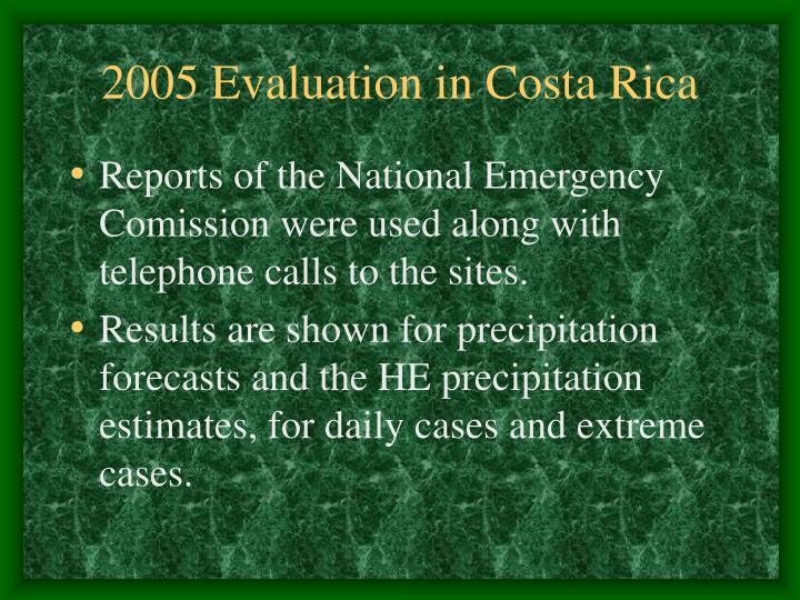 2005 Evaluation in Costa Rica