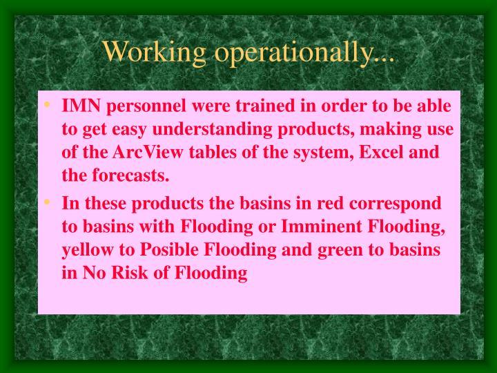 Working operationally...