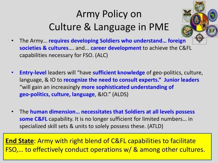 Army Policy on