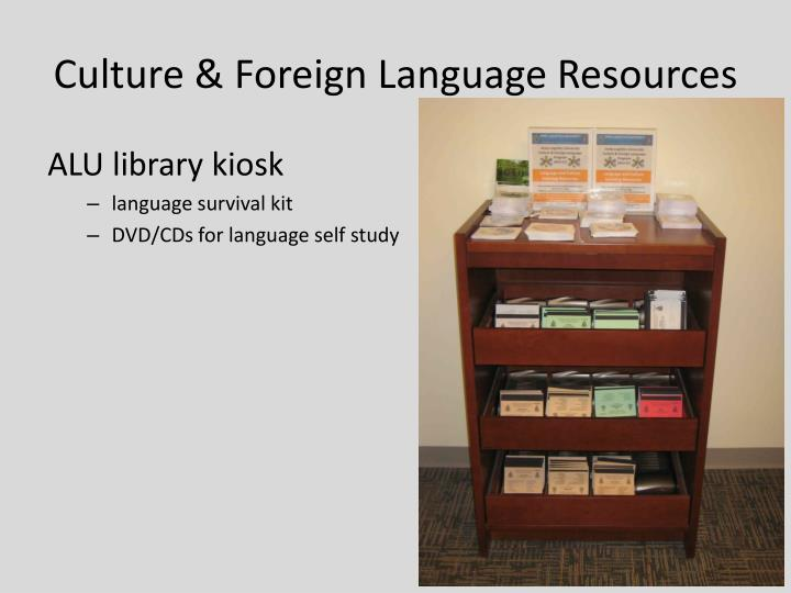 Culture & Foreign Language Resources