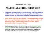 chm 434f chm 1206f materials chemistry 2009