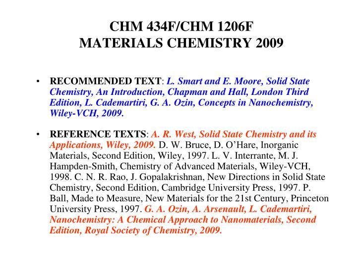 CHM 434F/CHM 1206F