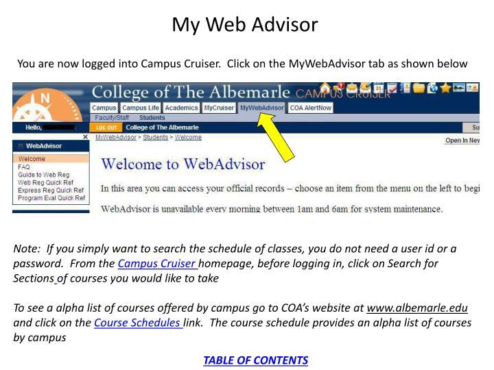 My Web Advisor
